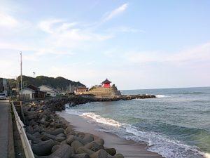 岩船港 海岸