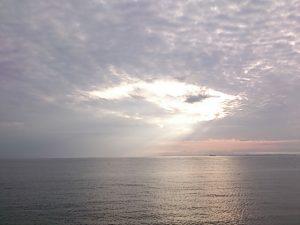 保田港 夕焼け