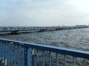 本牧海づり施設 桟橋全景