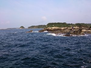 江奈高磯 紺碧の海