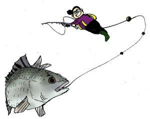 リツコ 平塚漁港でクロダイ釣り上げ成功