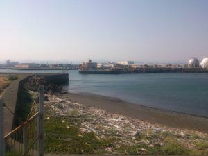 大井川港 岸壁