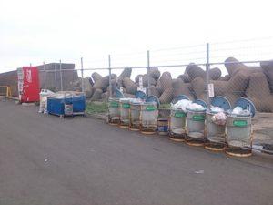 鹿島港魚釣園 ゴミ箱