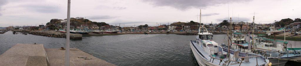 長井漆山漁港 全景