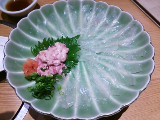 波奈館山総本店 本日地魚の薄造り カワハギ