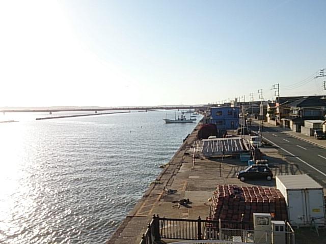 波崎漁港全景