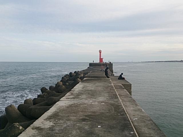 日立会瀬港 左堤防先端