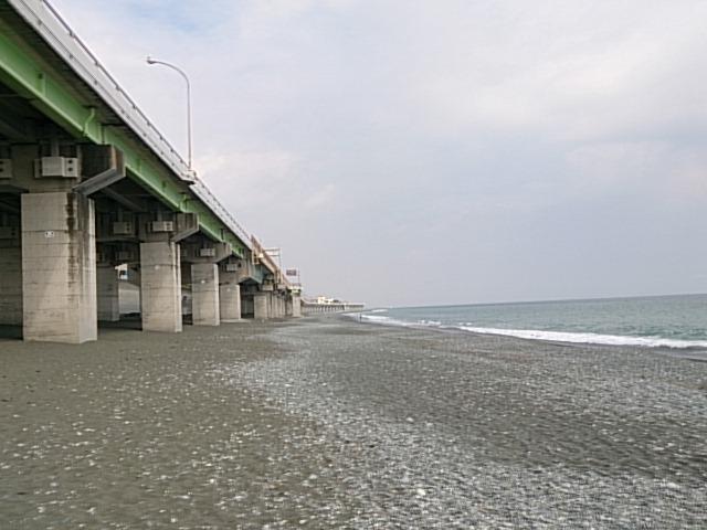 国府津海岸全景