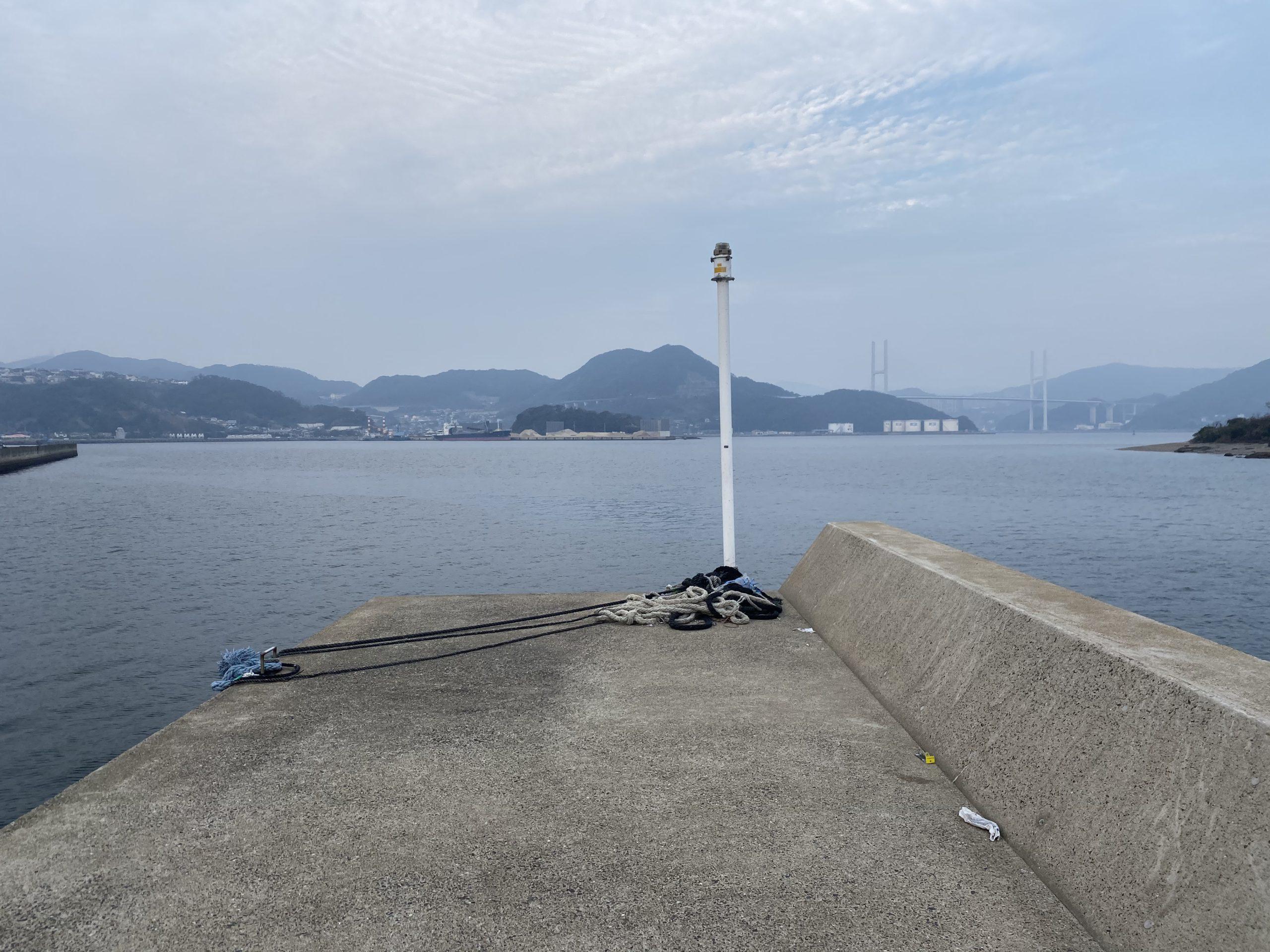 長崎神ノ島マリア像堤防先端