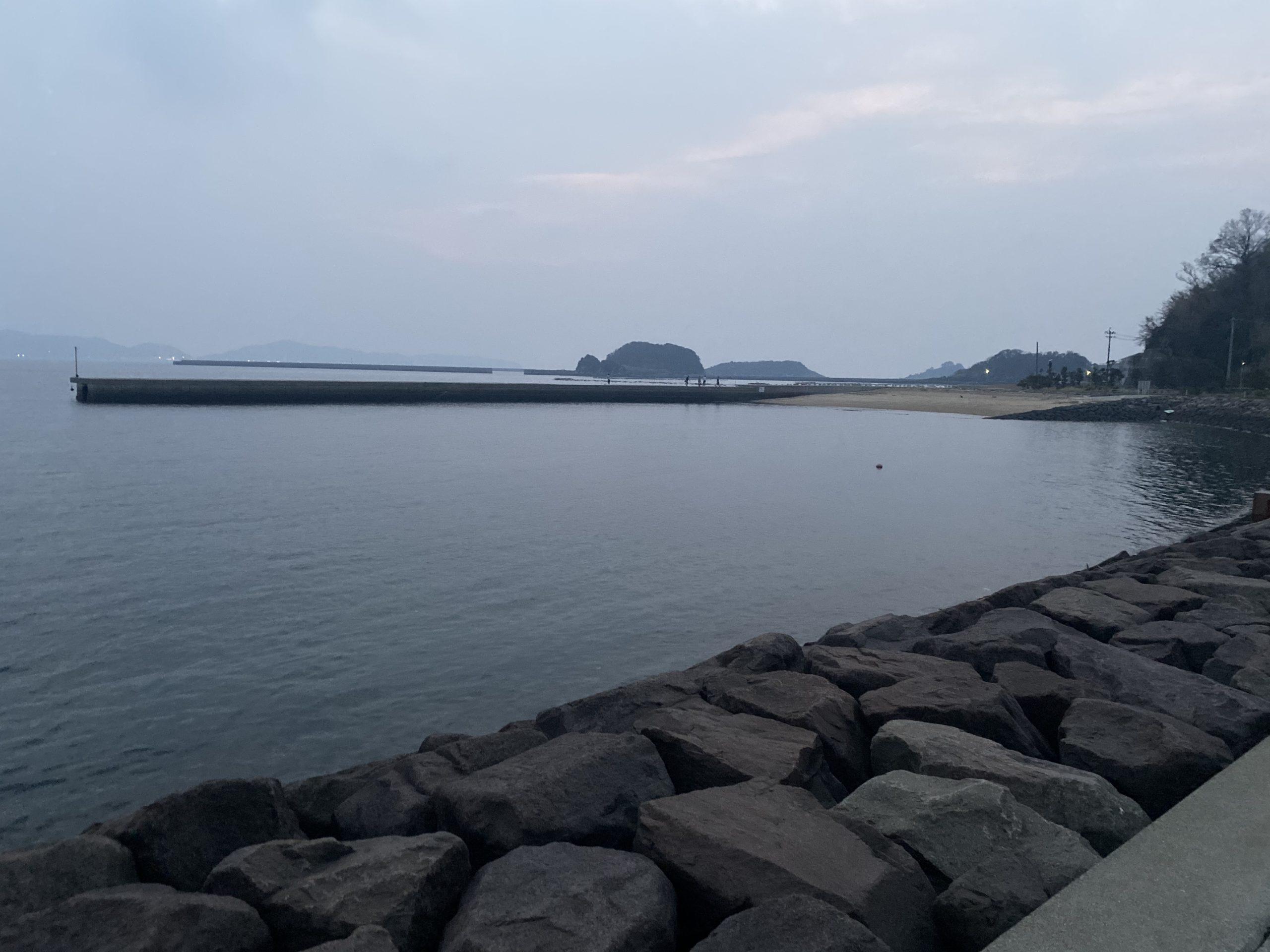 長崎神ノ島マリア像周辺右側堤防
