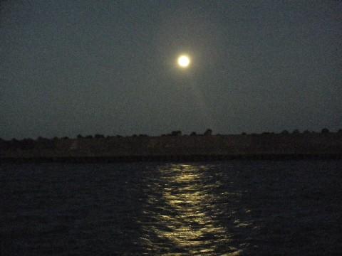 大原漁港 夜景