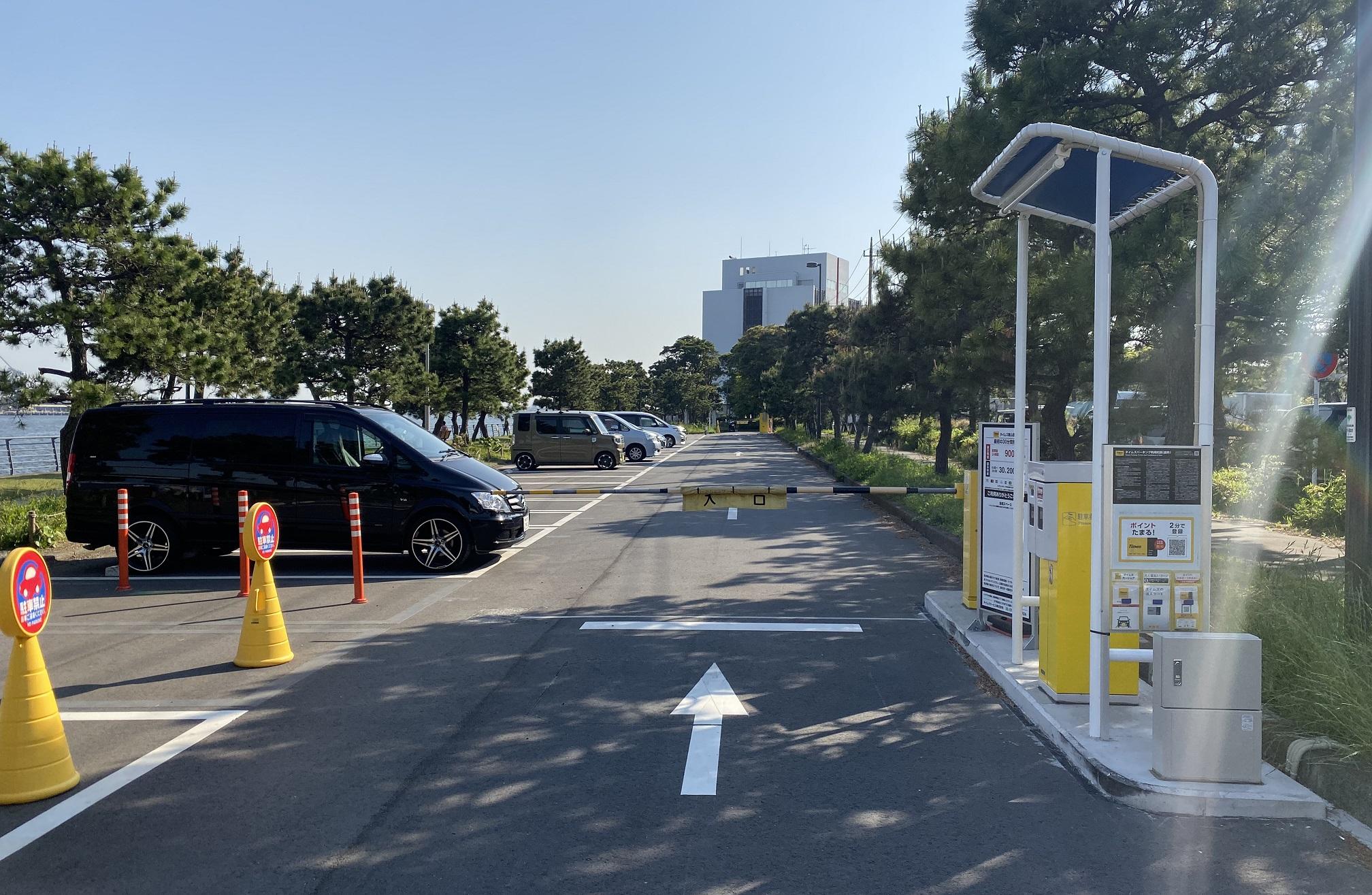 暁ふ頭公園 駐車場03