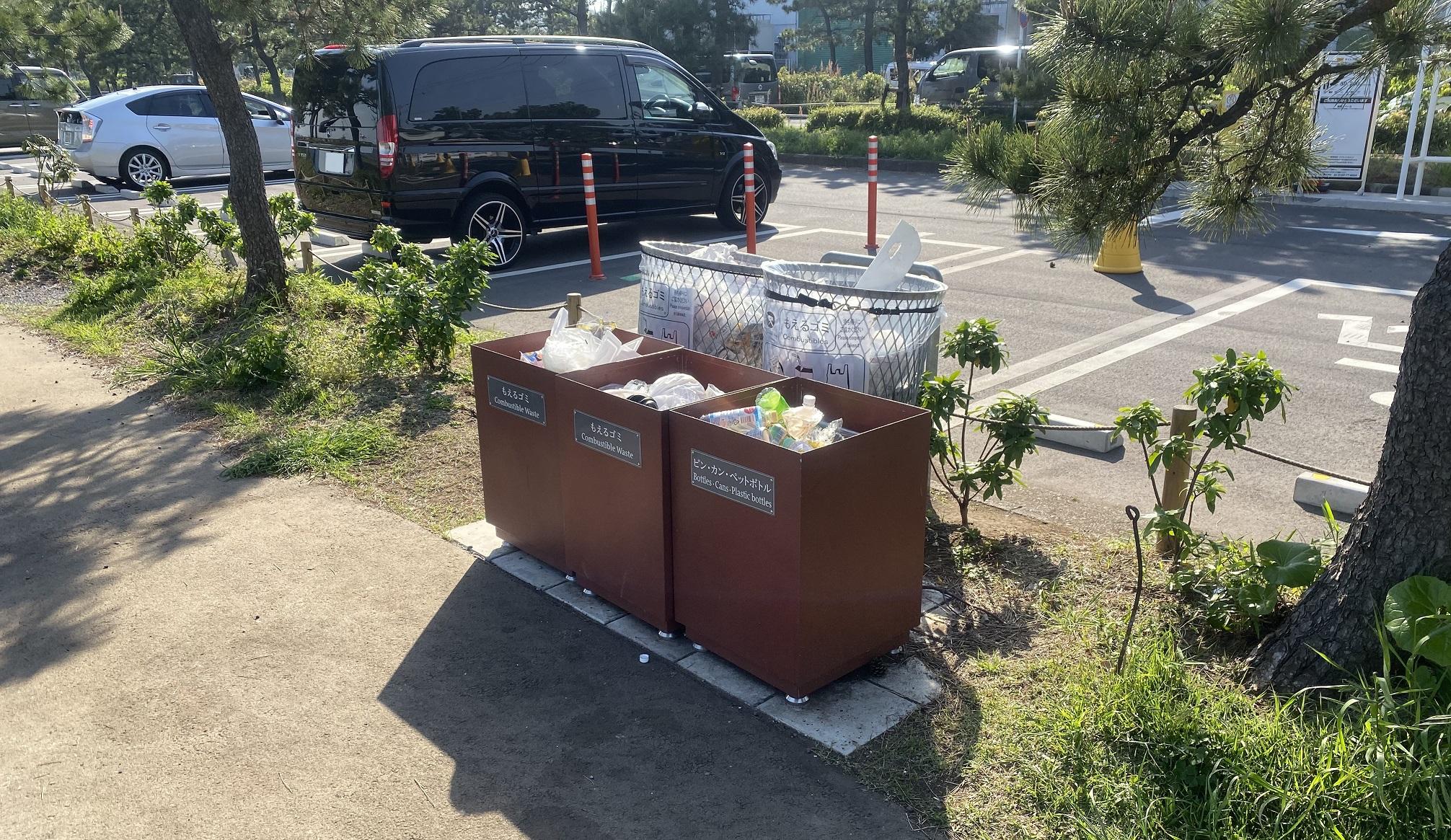 暁ふ頭公園 ゴミ箱