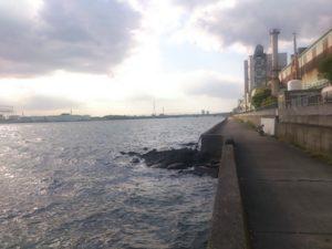 市川港 夕暮れ