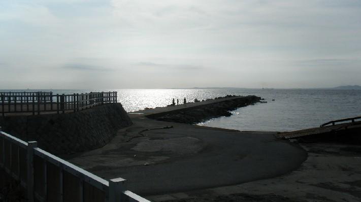 龍島港の夕焼け