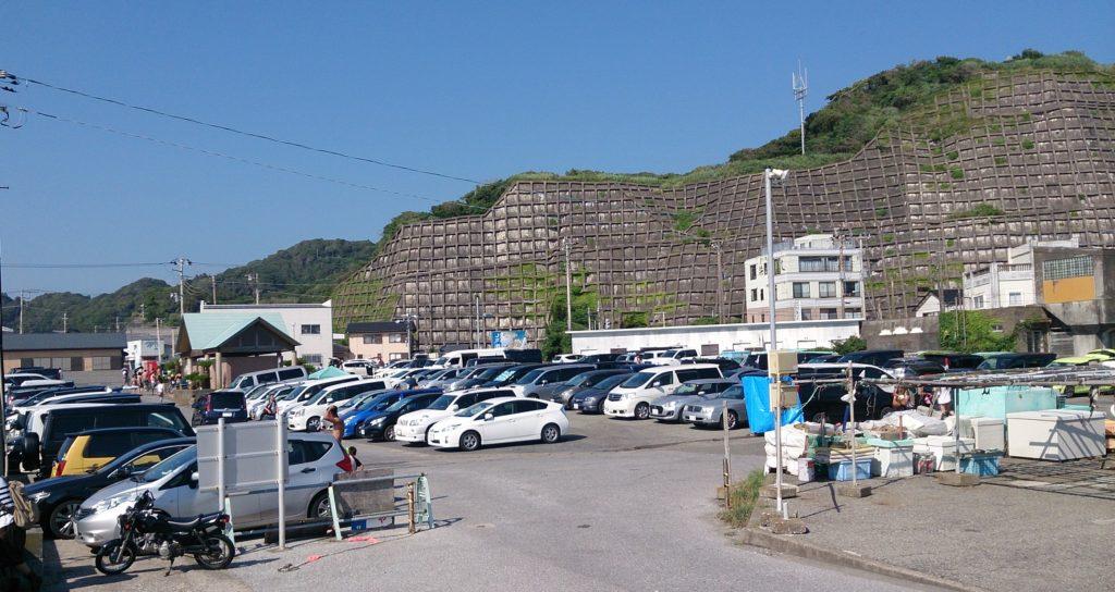 御宿岩和田漁港駐車場