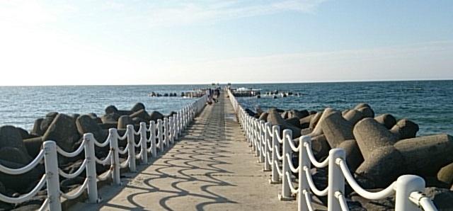 新潟西海岸第一突堤全景