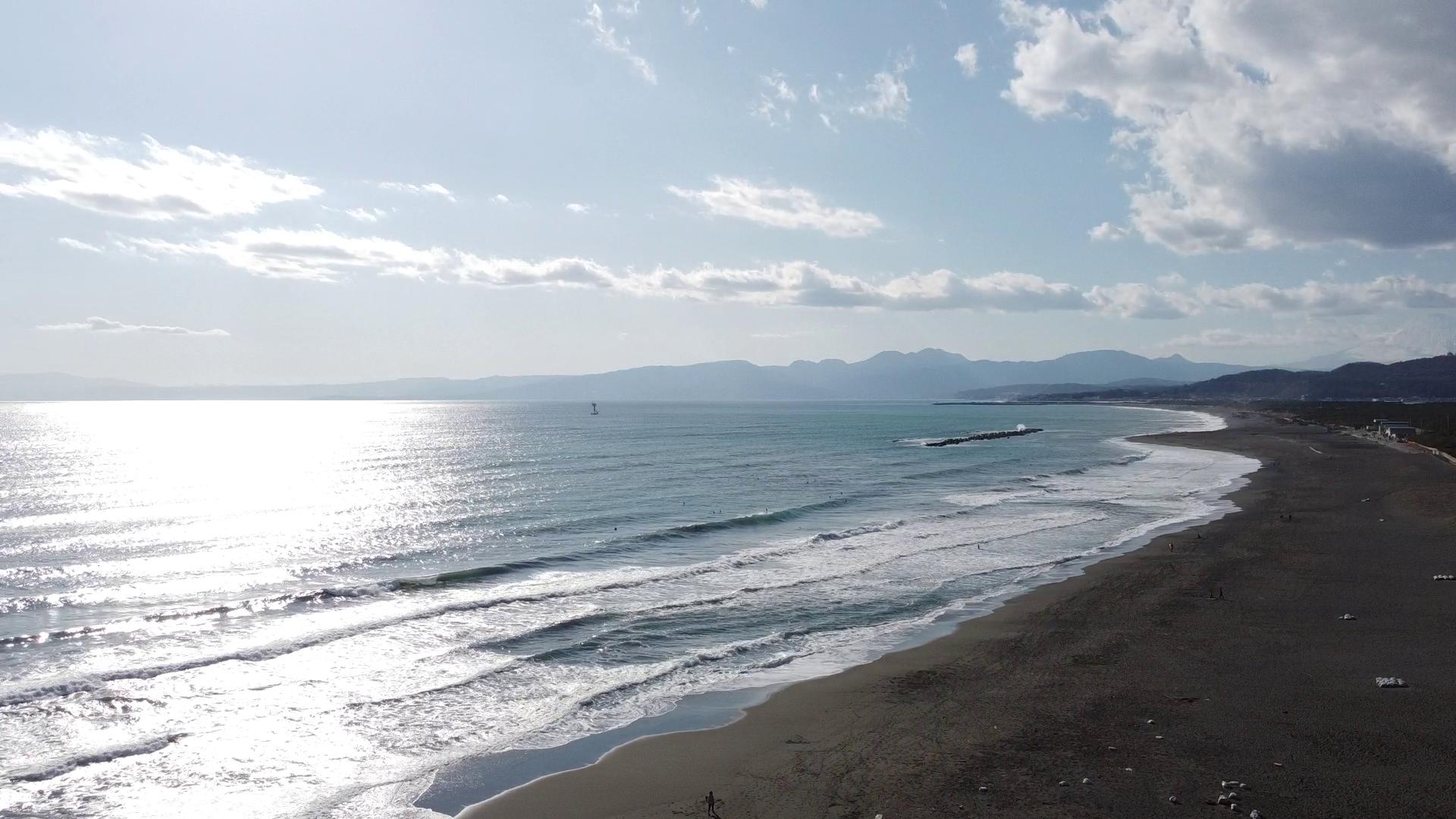平塚海岸 空撮