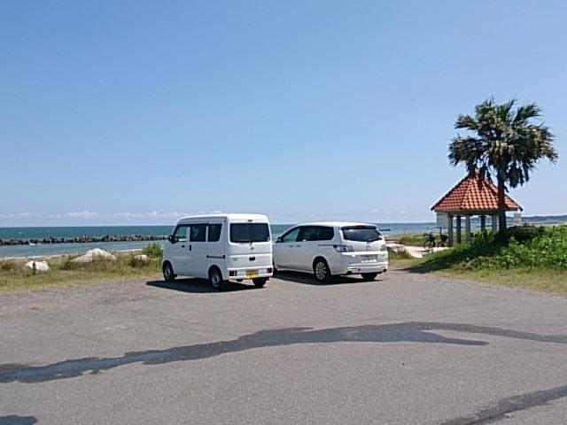 夷隅川河口 駐車場