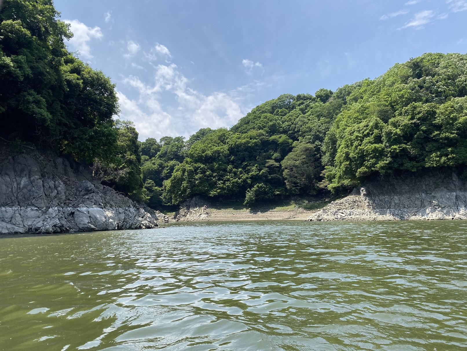 津久井湖 大沢ワンド全景