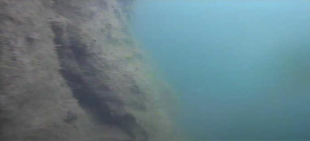 津久井湖 バス釣りポイント 又野送気所前 水中写真