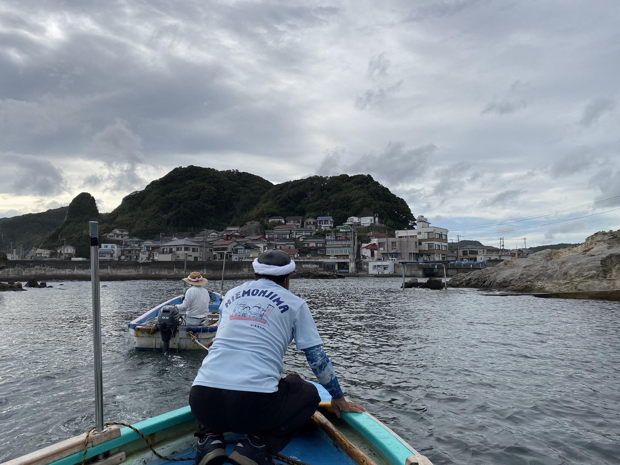 仁右衛門島 渡し舟